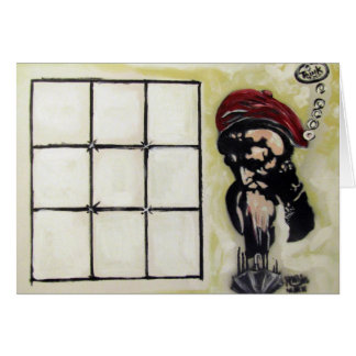 Think Outside The Grid Greeting Card