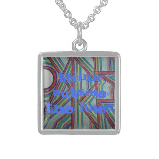 think outside the lines necklace