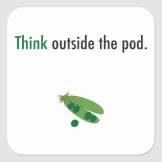 think outside the pod inspiration sticker