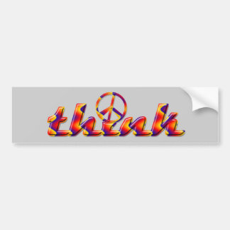 Think Peace Bumper Sticker