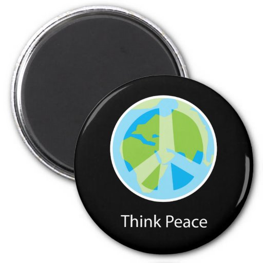 Think Peace Fridge Magnet
