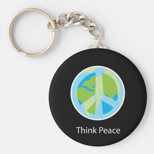 Think Peace Key Chain