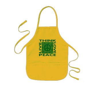 Think Peace. Love Peace. Live Peace. Kids Apron