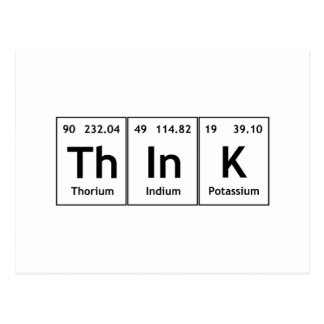 ThInK Periodic Table Element Word Chemistry Symbol Postcard