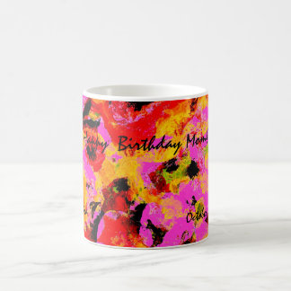 Think Pink Floral Coffee Mug