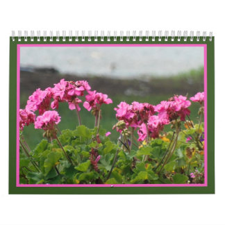 Think Pink Floral Wall Calendars