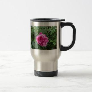 Think Pink Flower Stainless Steel Travel Mug