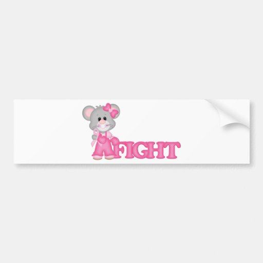 Think Pink  Mouse cure Bumper Sticker