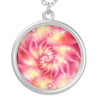 Think Pink Round Pendant Necklace