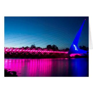 Think Pink Sundial Bridge Note Card