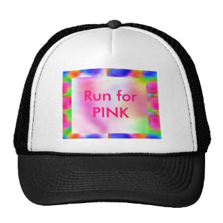 Think Pink - Support Cancer Research Mesh Hats
