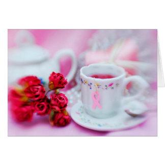 Think Pink Tea Greeting Card