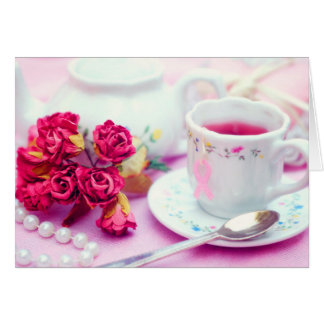 Think Pink Tea Note Card