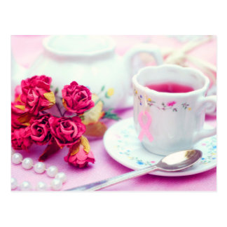 Think Pink Tea Post Card