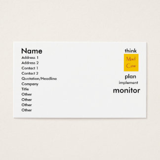 think,plan,implement,monitor.