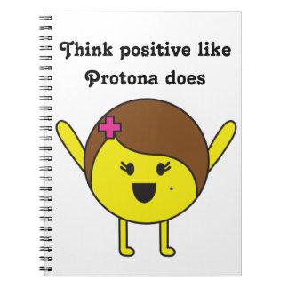 Think positive like Protona does Notebook