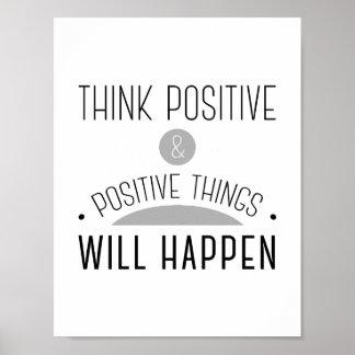 Positive Thinking Art, Posters & Framed Artwork | Zazzle ...