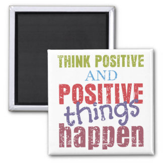 Think Positive Square Magnet