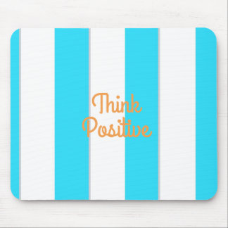 Think Positive Striped Mousepad