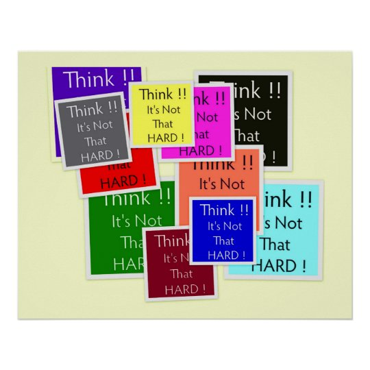 Think! poster