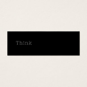 Inspirational quotes business cards business card printing think quotes inspirational thought quote black mini business card colourmoves