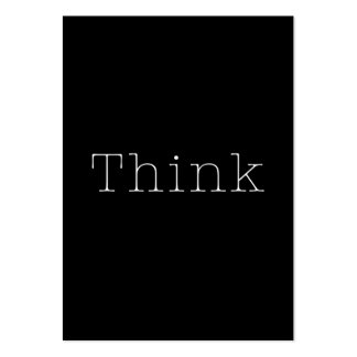 Think Quotes Inspirational Thought Quote Pack Of Chubby Business Cards
