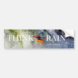 THINK RAIN BUMPER STICKER