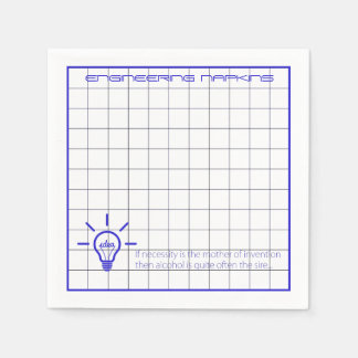 Think Responsibly Engineering Doodle Napkins Disposable Serviette