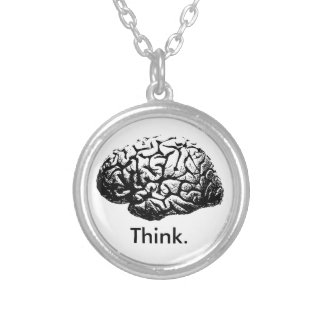 Think. Round Pendant Necklace