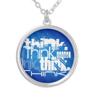 Think; Royal Blue Stripes Custom Jewelry