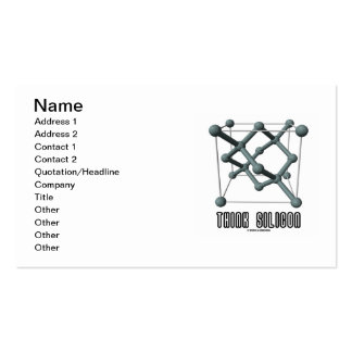 Think Silicon (Silicon Crystal Structure) Business Cards