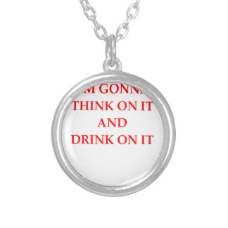 THINK SILVER PLATED NECKLACE