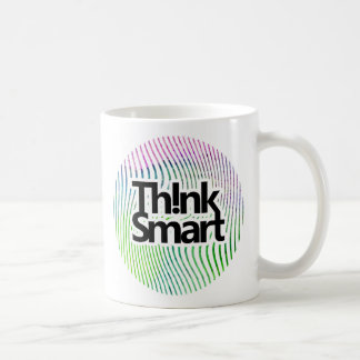 Think smart watercolor swirl stripes coffee mug