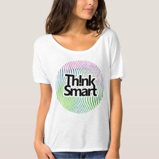 Think smart watercolor swirl stripes T-Shirt