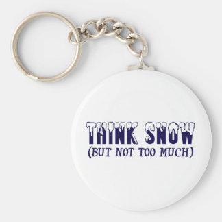 Think Snow Basic Round Button Key Ring
