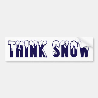 Think Snow Bumper Sticker