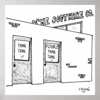 Think Tank Cartoon 1631 Poster