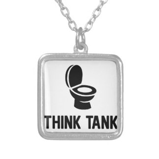 Think Tank Silver Plated Necklace