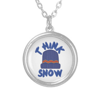 Think Tuque Round Pendant Necklace