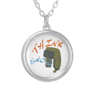 Think Ushanka Round Pendant Necklace