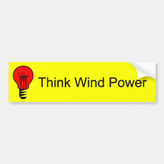 Think Wind Power Bumper Sticker