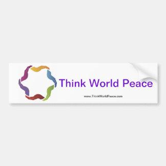 Think World Peace Bumper Sticker