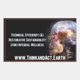 "ThinkandAct.Earth ""Funthreementals"" Rectangular Sticker"