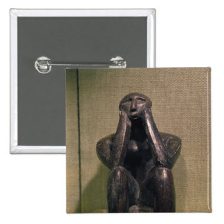 Thinker of Cernovoda, Hamangia Culture 15 Cm Square Badge
