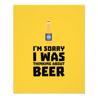 Thinking about Beer bottle Z860x 11.5 Cm X 14 Cm Flyer