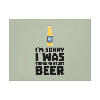 Thinking about Beer bottle Z860x Canvas Print