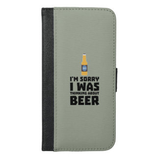 Thinking about Beer bottle Z860x iPhone 6/6s Plus Wallet Case
