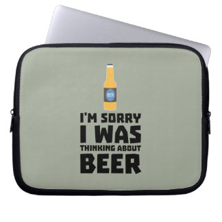 Thinking about Beer bottle Z860x Laptop Computer Sleeve