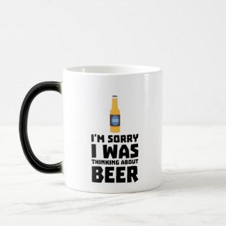 Thinking about Beer bottle Z860x Magic Mug