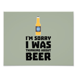 Thinking about Beer bottle Z860x Photo Print